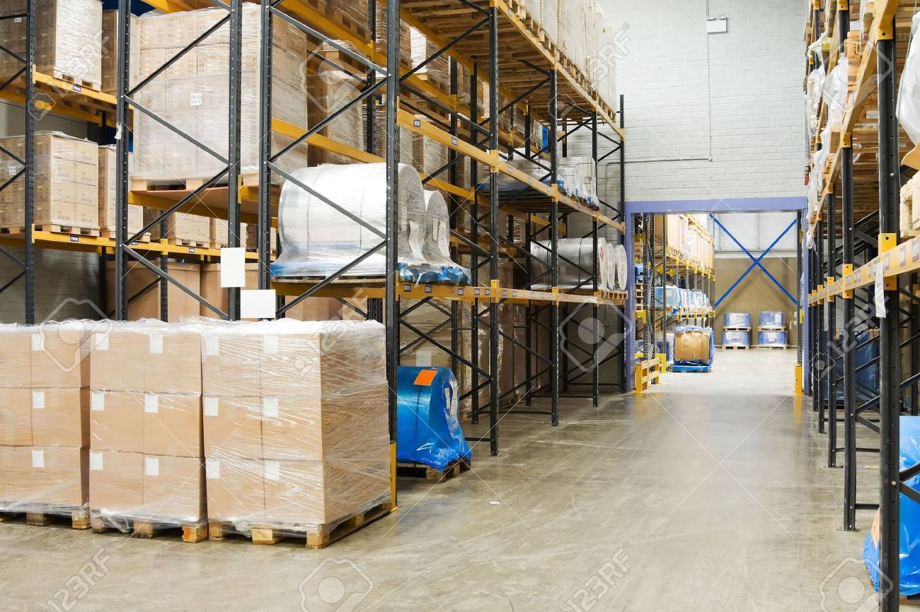 industrial Warehouse Interior Stock Photo - 5588623