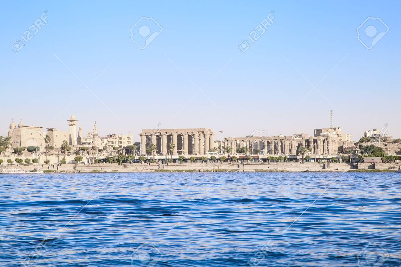LUXOR, EGYPT, Architecture of Luxor, city on the river NIle. - 101408844