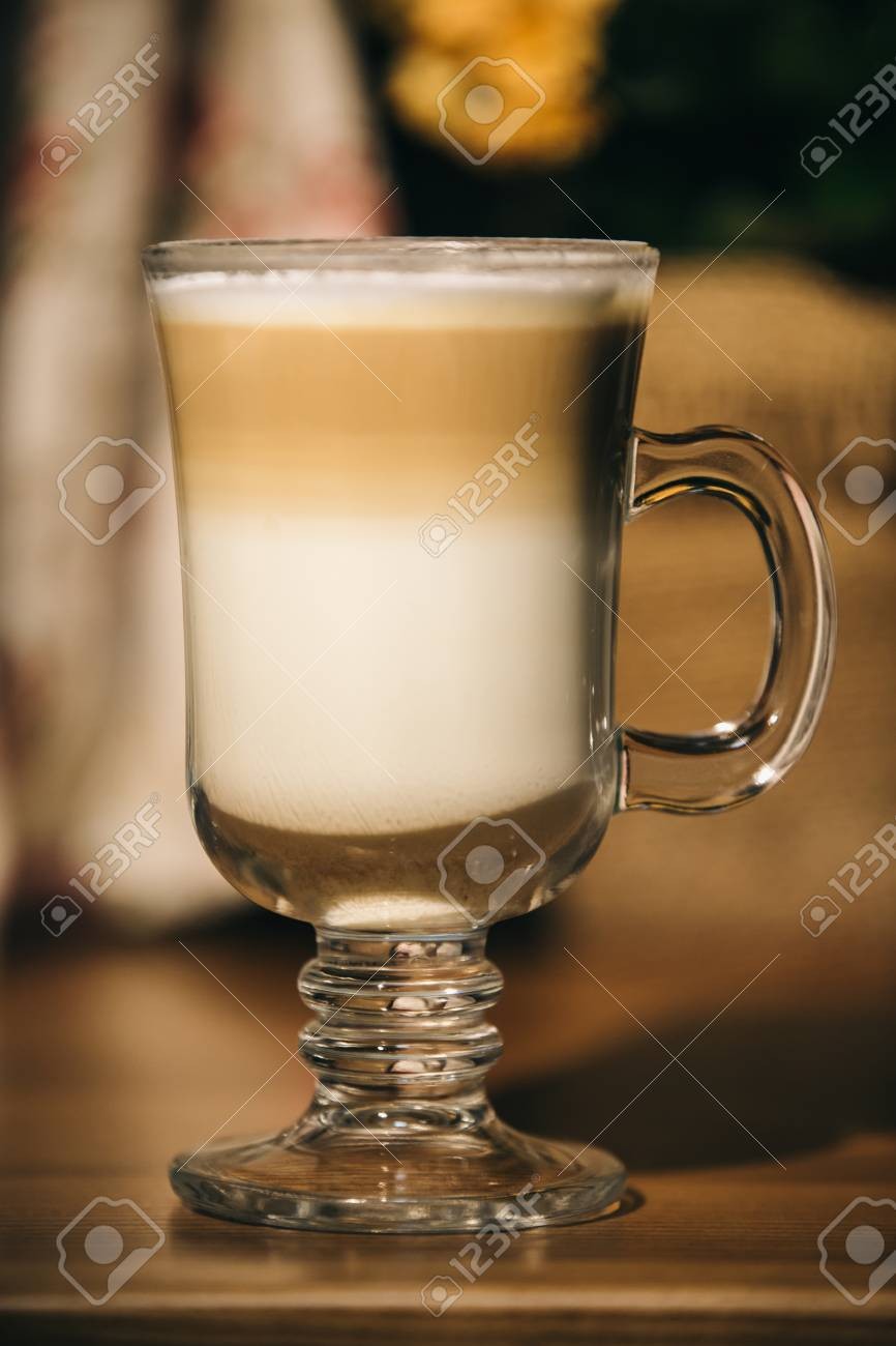 Cup of latte or cappuccino coffee - 99999937