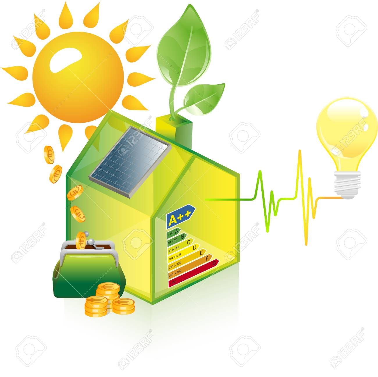 House with solar panel - 93921240