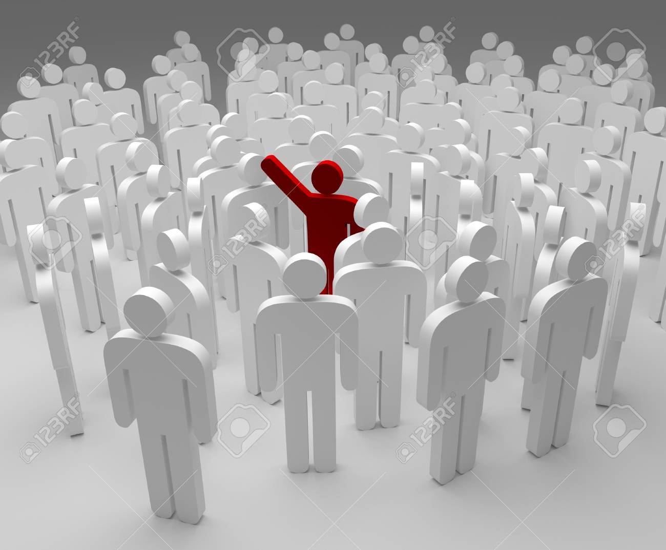 3d people - men, person in group. Leadership and team - 95003064