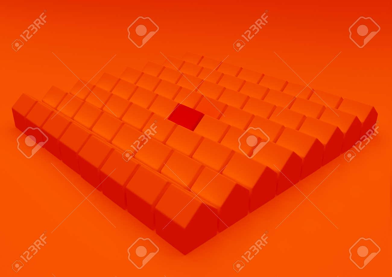 orange houses for real estate property industry, 3d illustration - 157639651