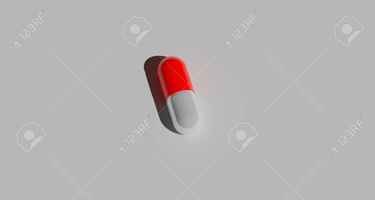pills on gray background - 157913647