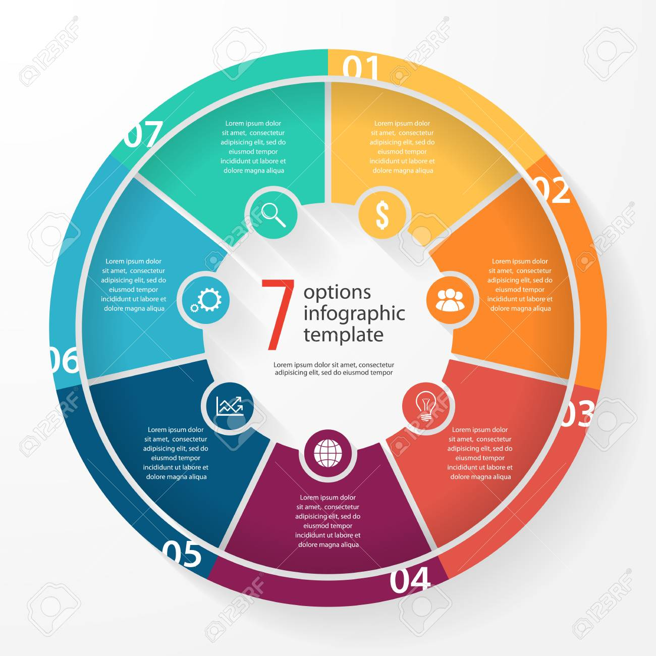 Business Pie Chart Template For Graphs Charts Diagrams Business