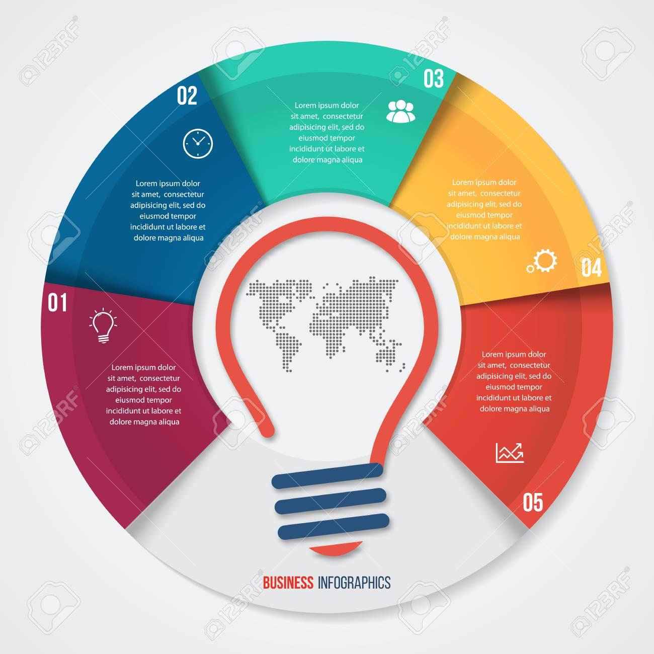 Plantilla Gráfica De Gráfico De Pastel De Ideas Vectoriales Para ...