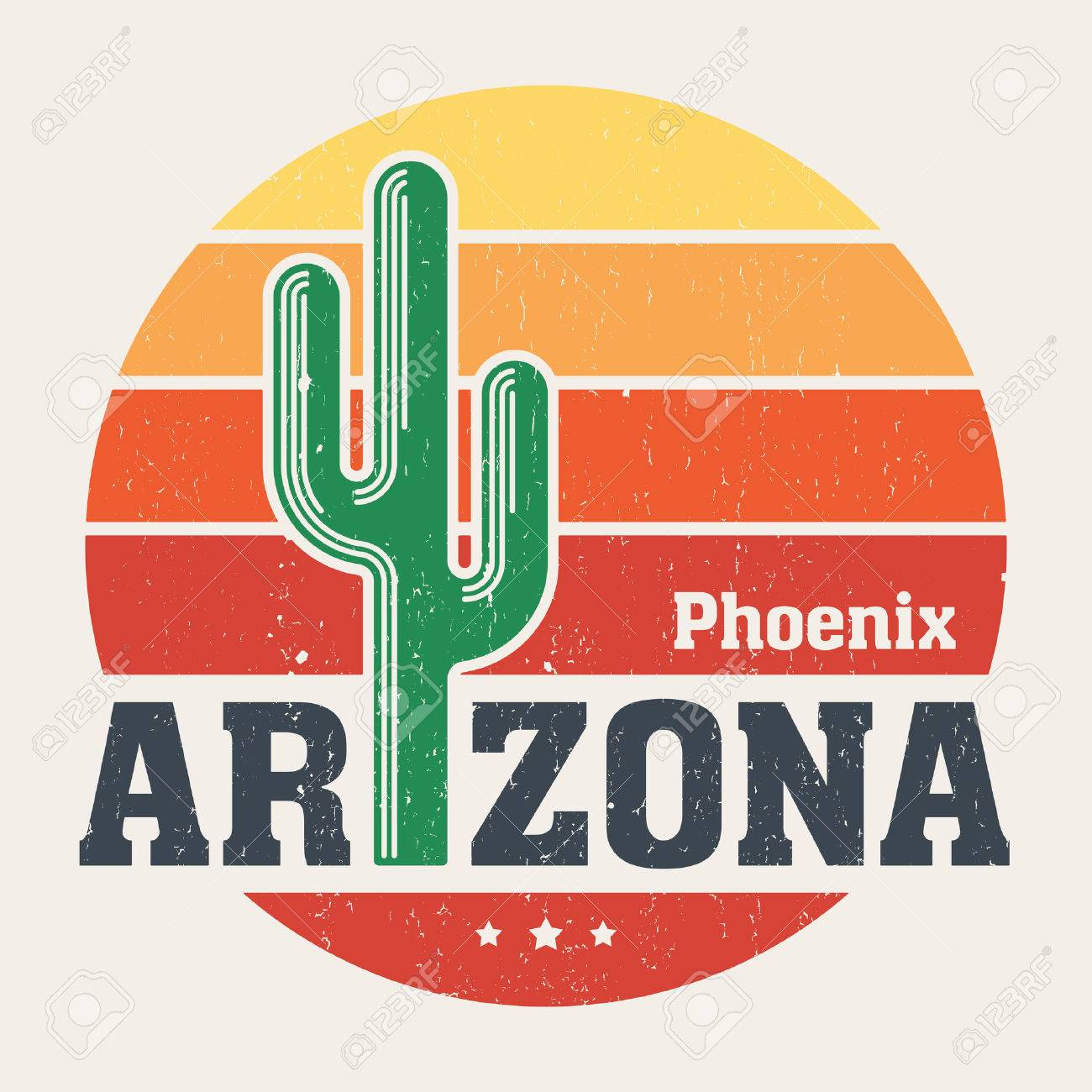 Arizona T Shirt Design Print Typography Label With Styled