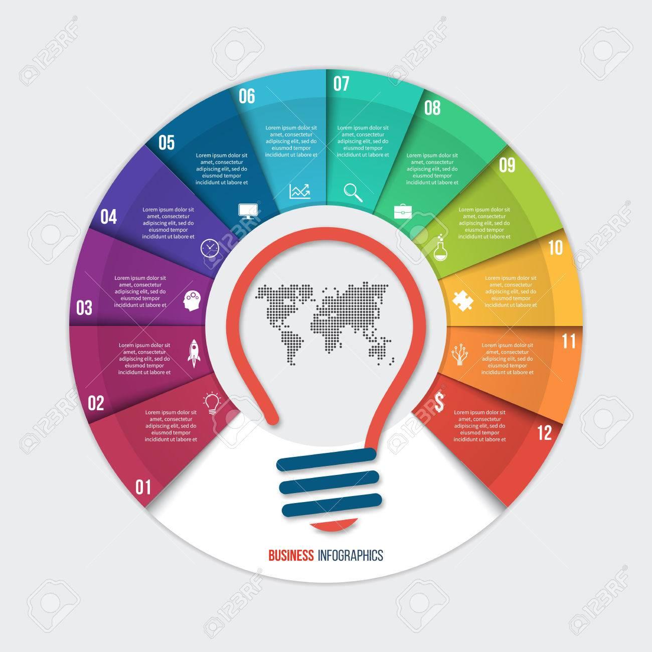 Infografía Plantilla De Gráfico Circular Idea Del Vector Para ...