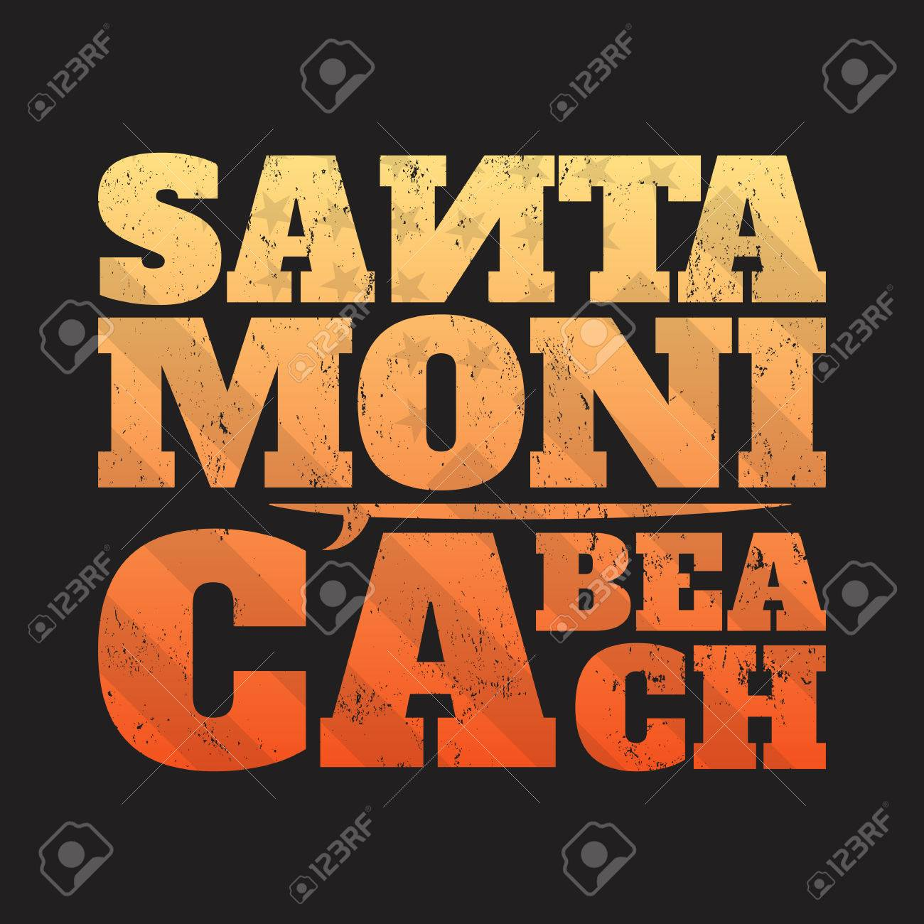 b4b858c4a Santa Monica tee print with surfboard. T-shirt design, graphics, stamp,