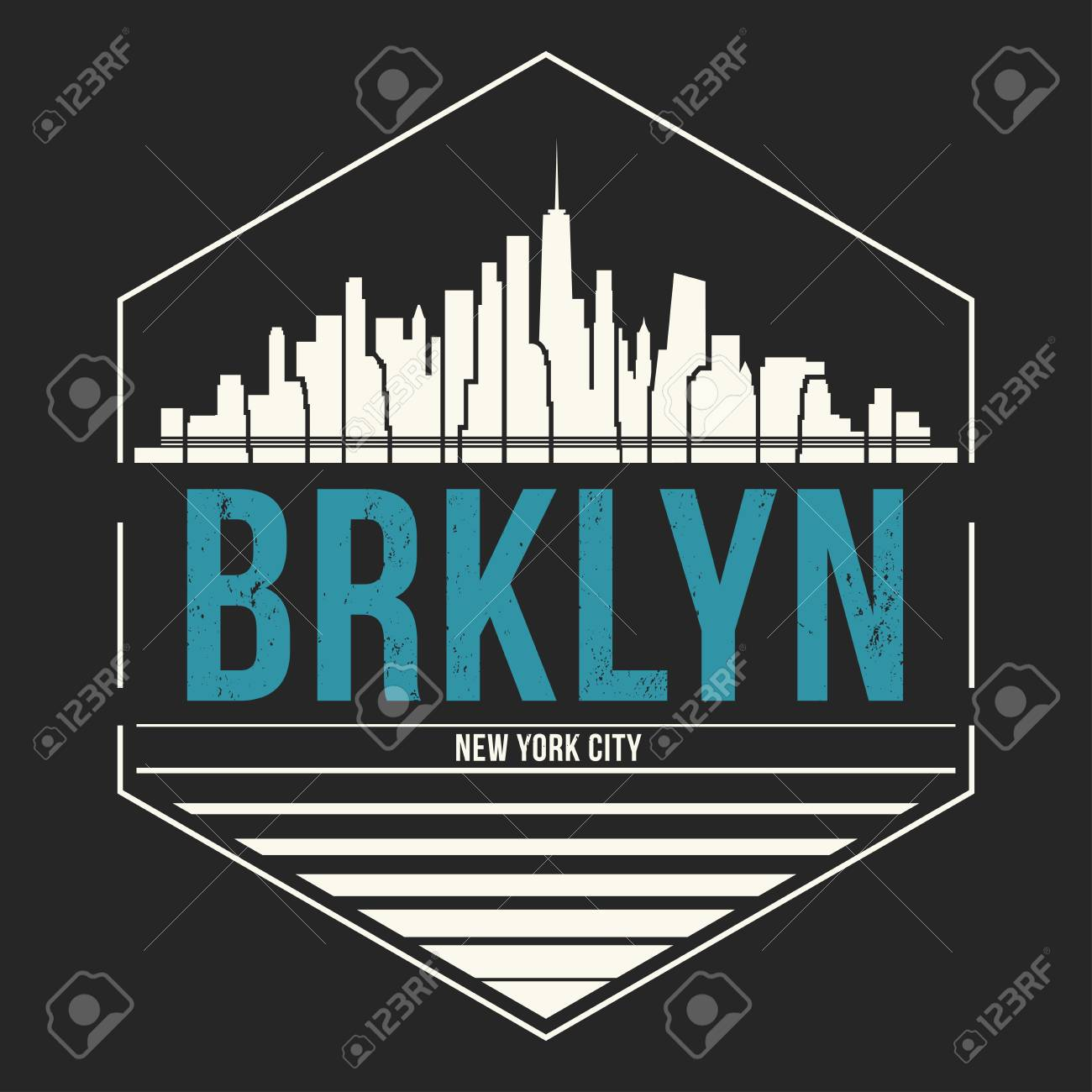 455d46d7 Brooklyn New York graphic, t-shirt design, tee print, typography, emblem