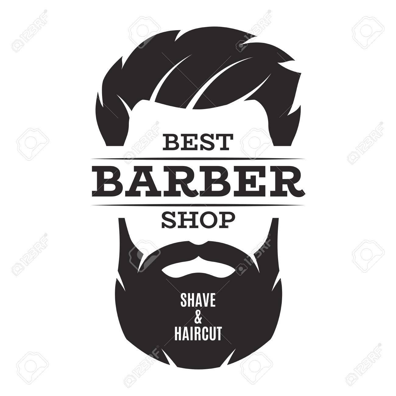 Barber shop isolated vintage label badge emblem. - 79986461