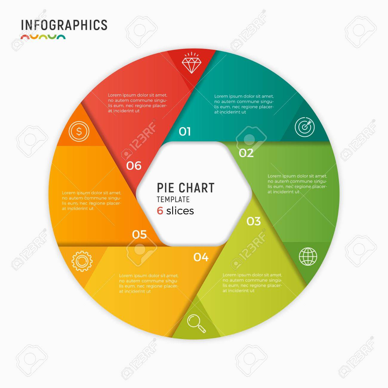 Vector circle chart infographic template 6 options steps part vector circle chart infographic template 6 options steps part stock vector 84731997 ccuart Images