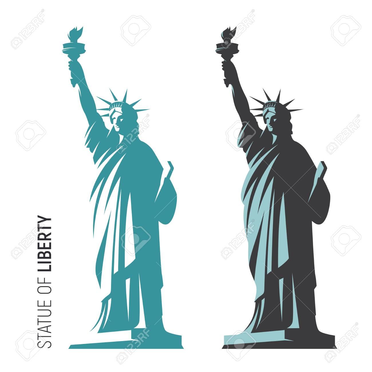 ニューヨークの自由の女神像のベクトル イラストsのイラスト素材
