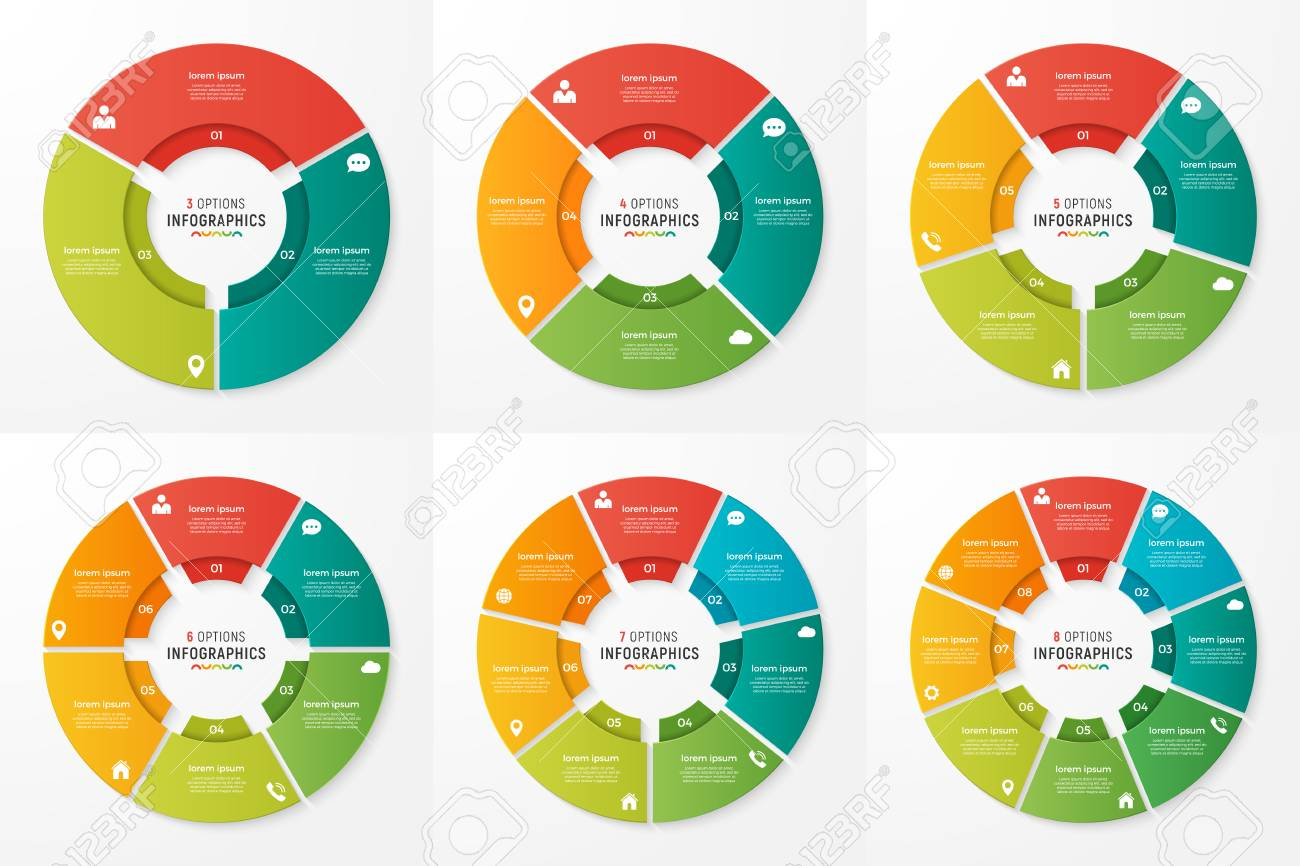 Vector circle chart infographic templates for presentations, adv - 88305890