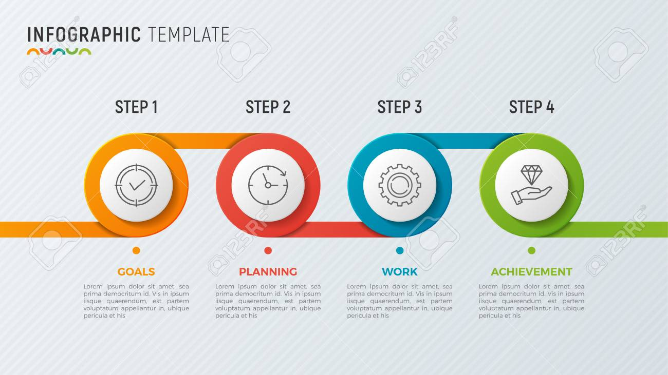a vector timeline chart info graphic design for data visualization