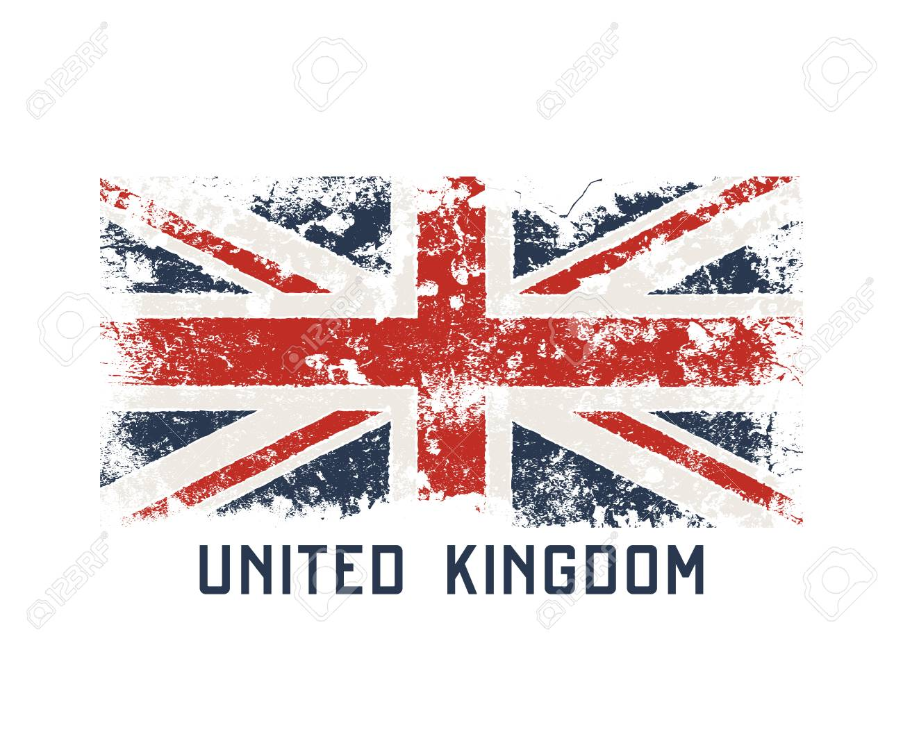 United Kingdoml t-shirt and apparel design with grunge effect. - 90027191