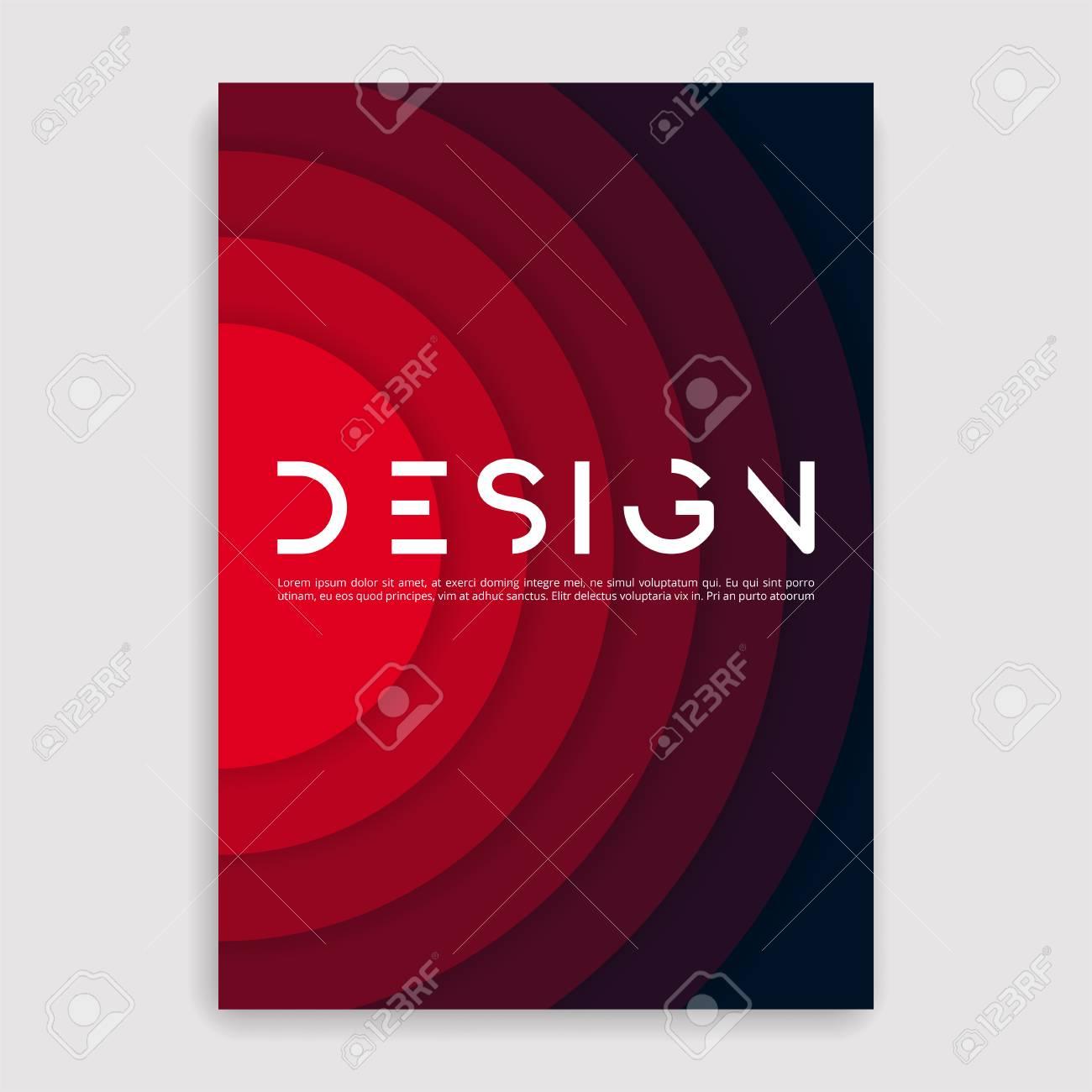Brochure cover geometric design template. - 91782472