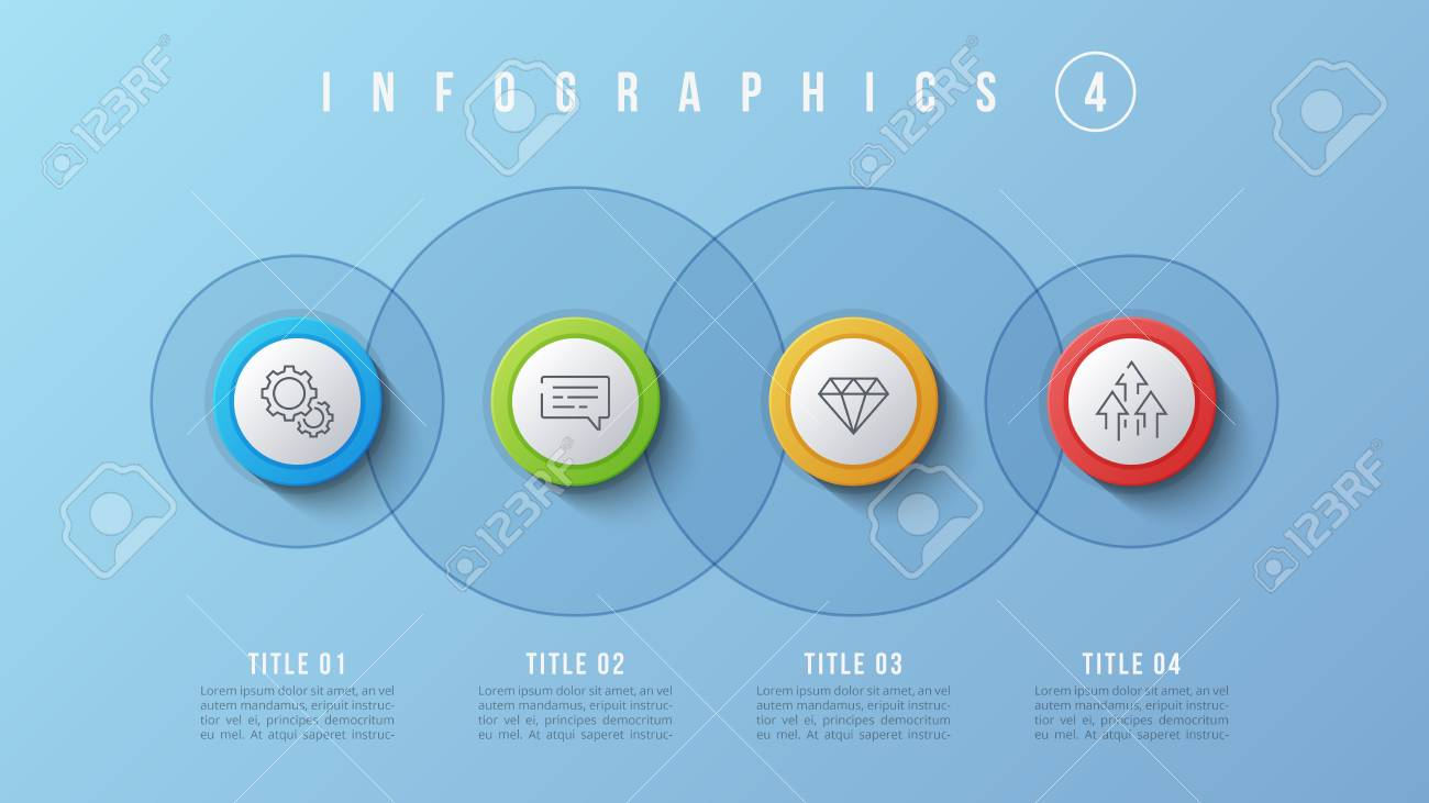 vector 4 options infographic design, presentation template. editable, Global Presentation Template, Presentation templates