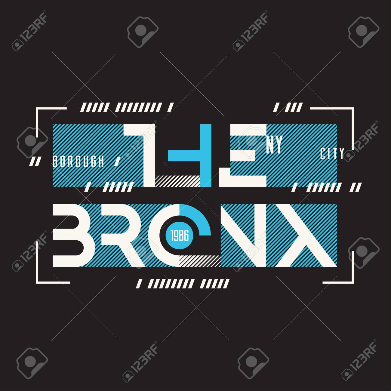 The Bronx New York vector t-shirt and apparel geometric design, - 97043625