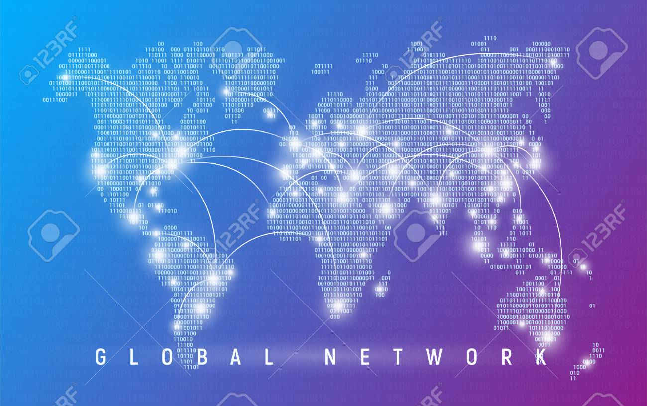 Global network, worldwide communication and connections - 102089131