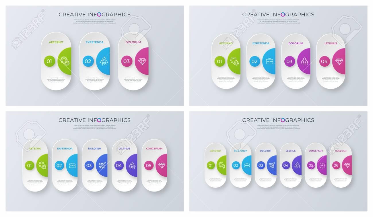 Set of contemporary minimalist vector infographic designs. - 101908169