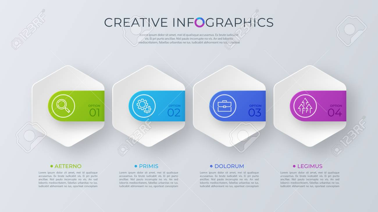 Contemporary minimalist vector infographic design with four opti - 102139816