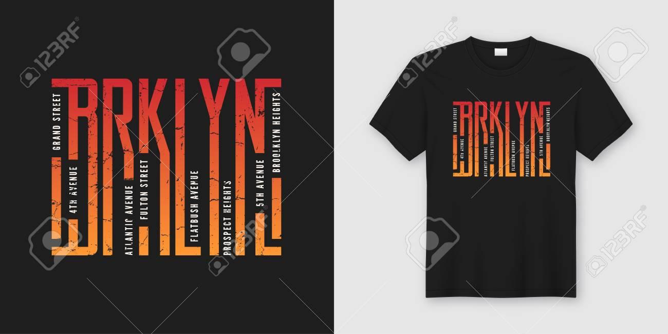 Brooklyn stylish t-shirt and apparel design, typography, print, - 104149649