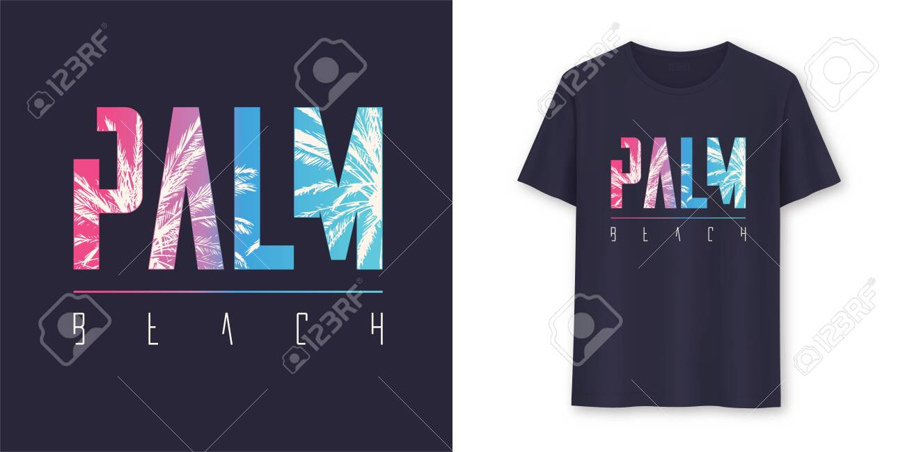 Palm Beach Florida stylish graphic t-shirt vector design, poster, typography - 135772802
