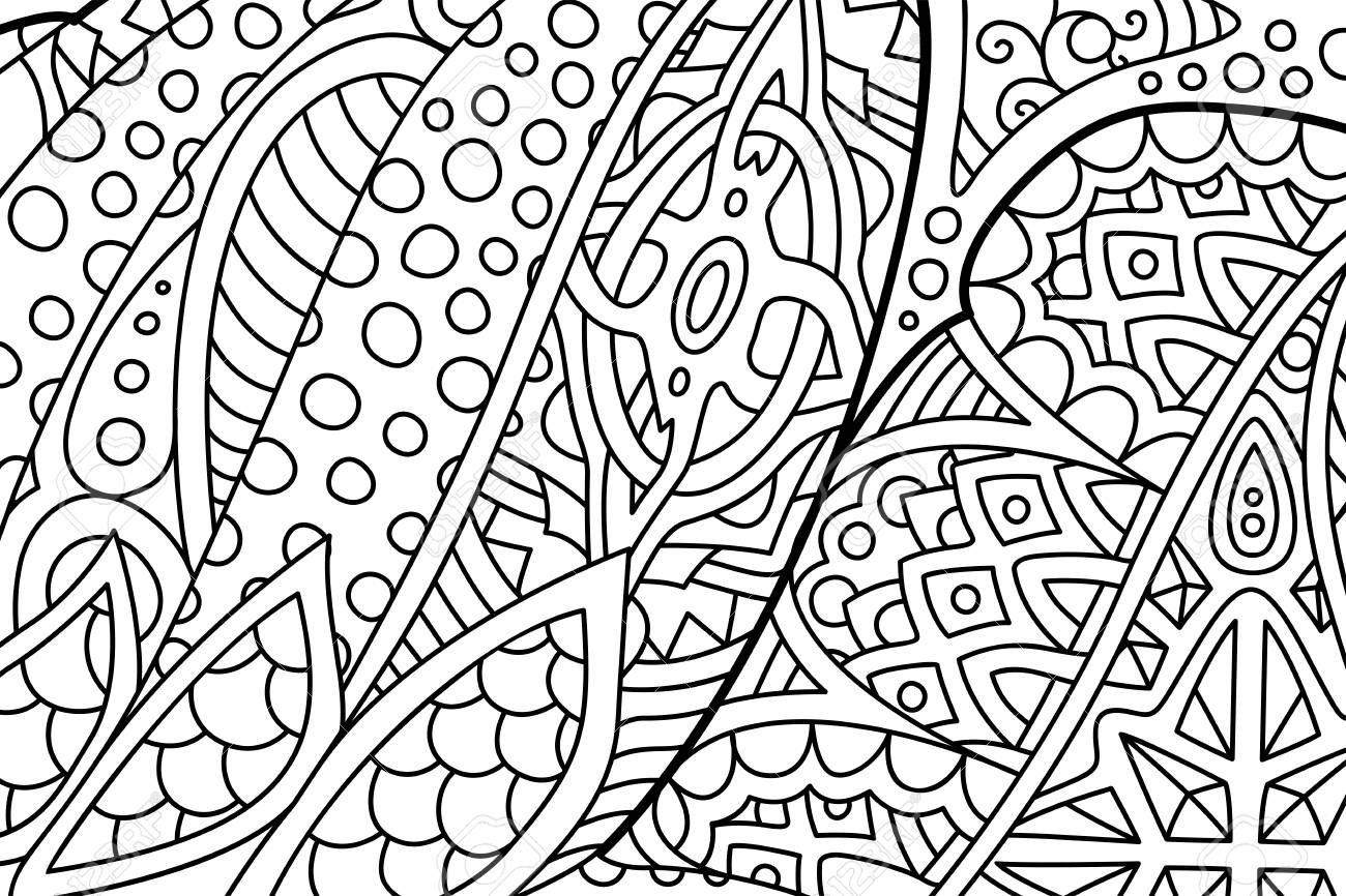 Beautiful Abstract Zen Art For Coloring Book Pages Royalty Free Cliparts Vectors And Stock Illustration Image 119297961