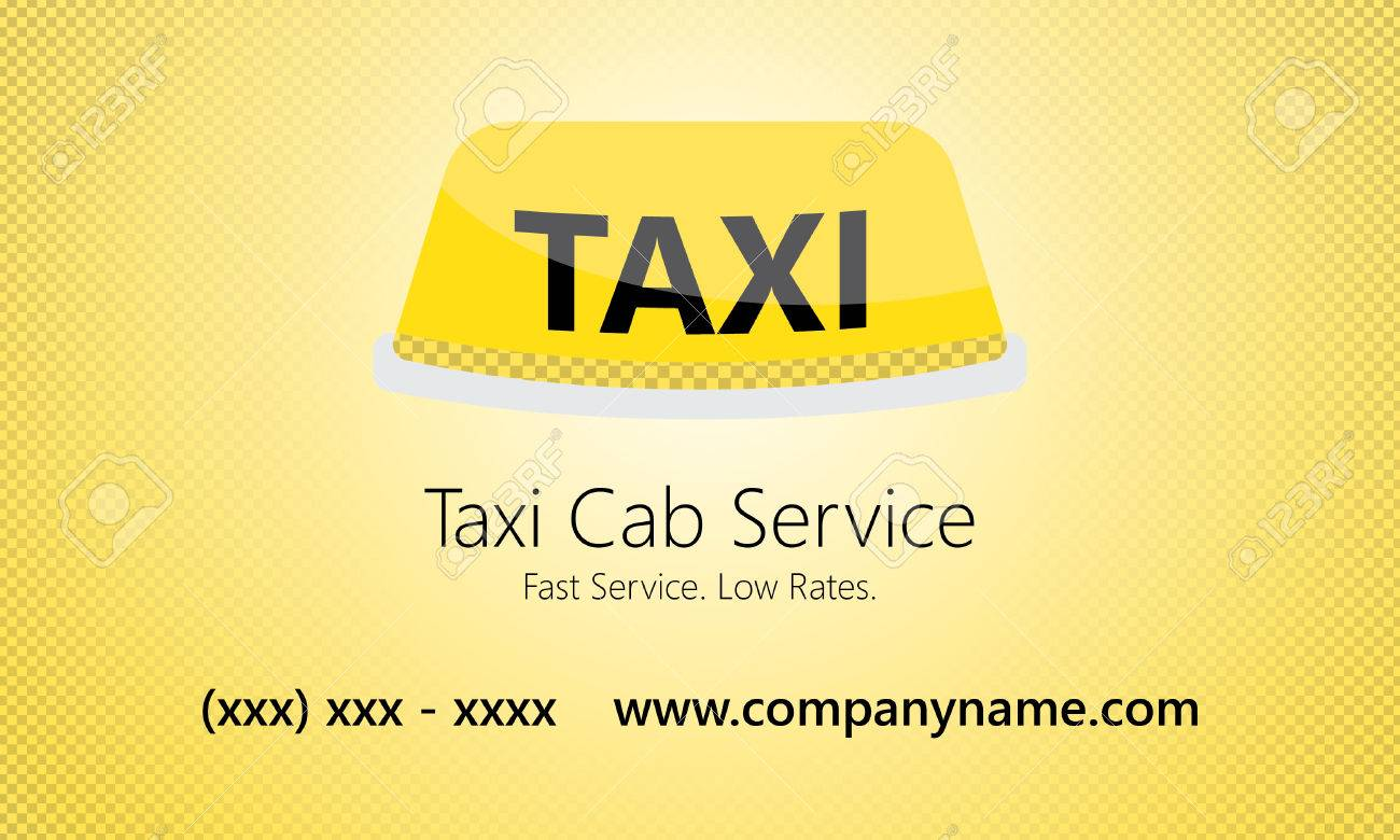 Taxi Service Business Card Template Royalty Free Cliparts, Vectors ...