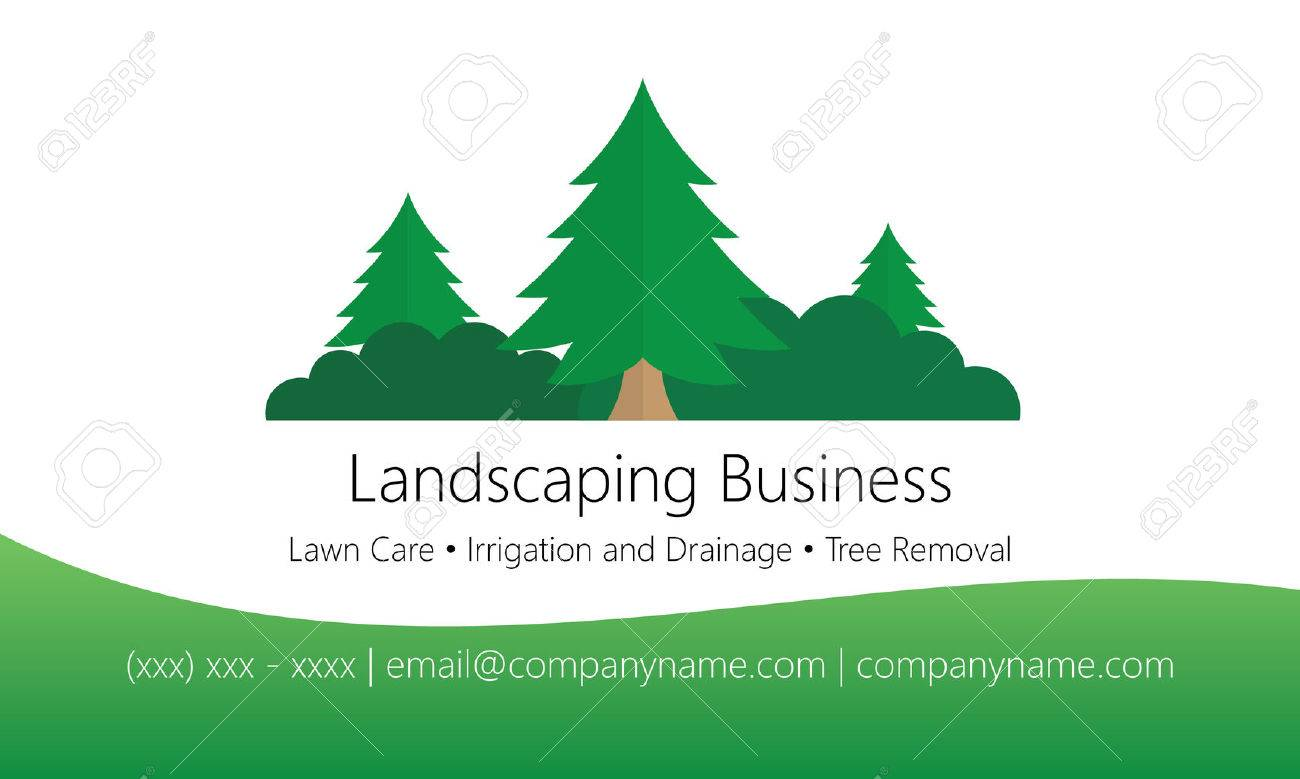 Landscaping Business Card Template Royalty Free Cliparts Vectors - Landscaping business card template