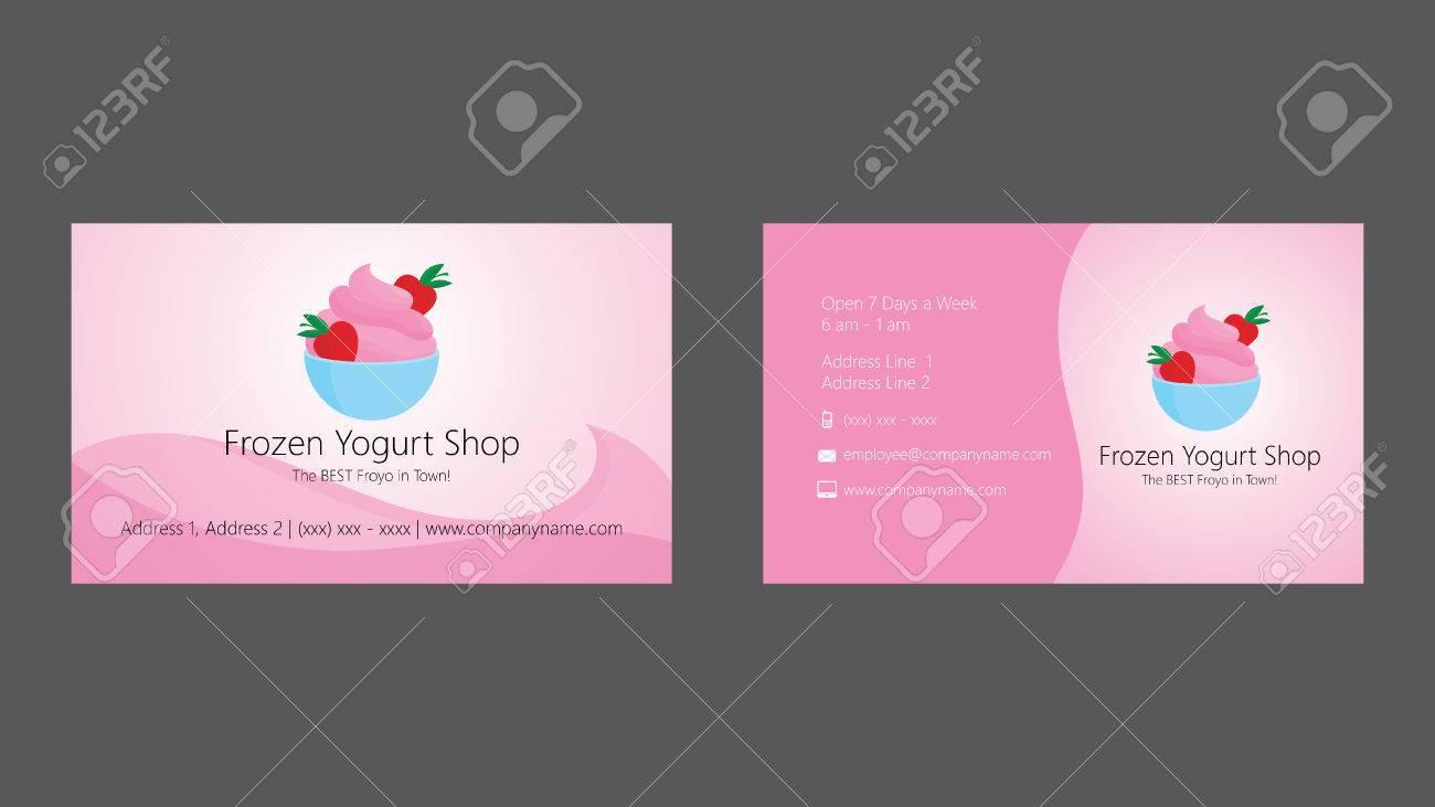 Frozen Yogurt Shop Business Card Template Royalty Free Cliparts ...