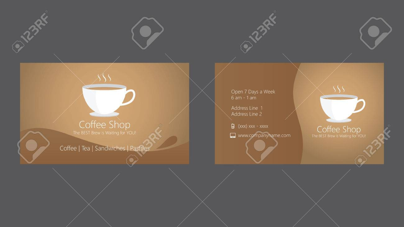 Coffee shop cafe business card template royalty free cliparts coffee shop cafe business card template stock vector 61677092 wajeb Gallery