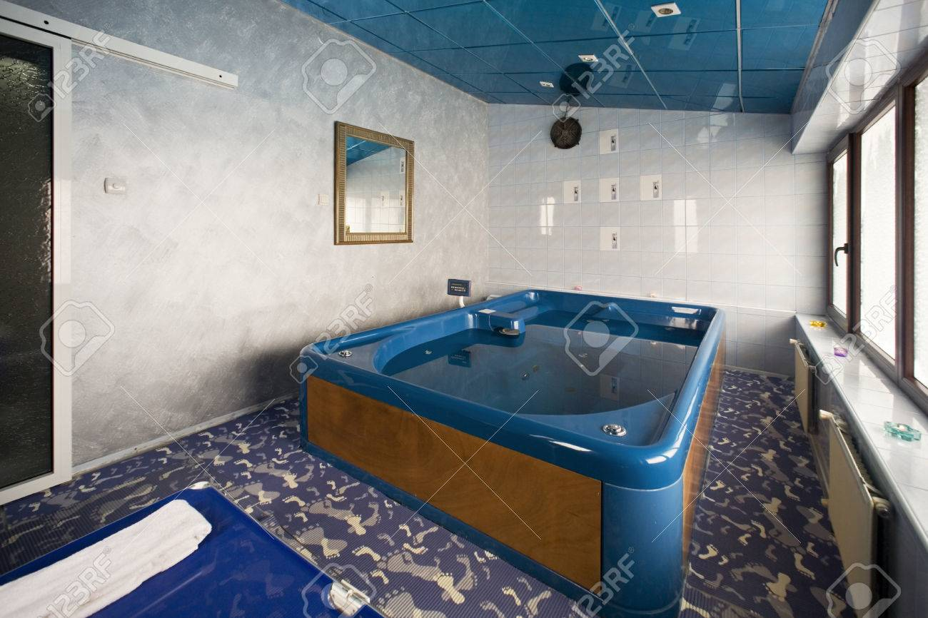 Big Jacuzzi Tub In Hotel Spa Center Stock Photo, Picture And Royalty ...