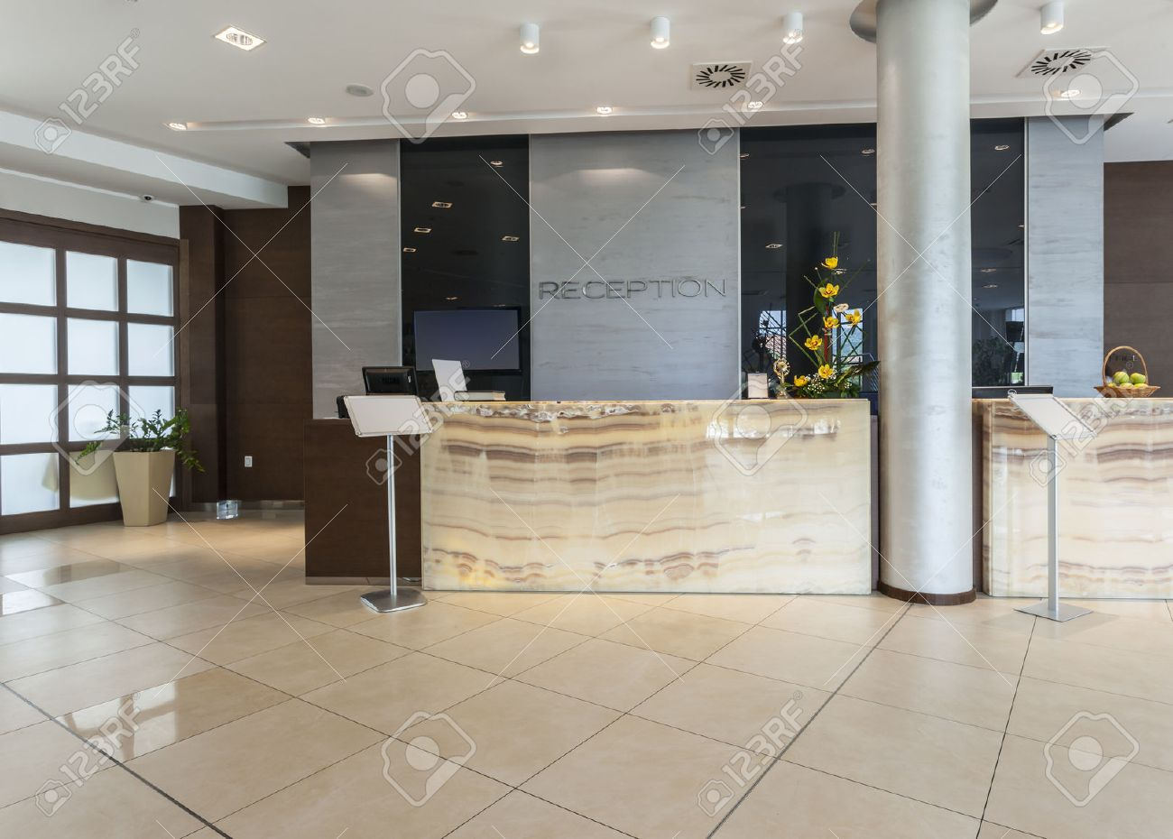 modern hotel reception stock photo, picture and royalty free image