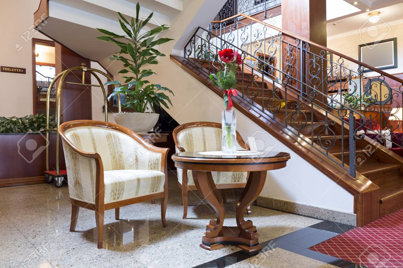 Hotel Lobby Stairs And Chairs Stock Photo Picture And Royalty Free Image Image 35751524