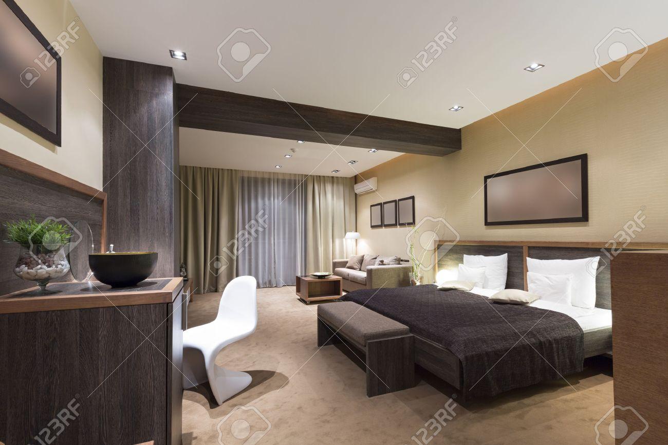 Intérieur moderne chambre de luxe