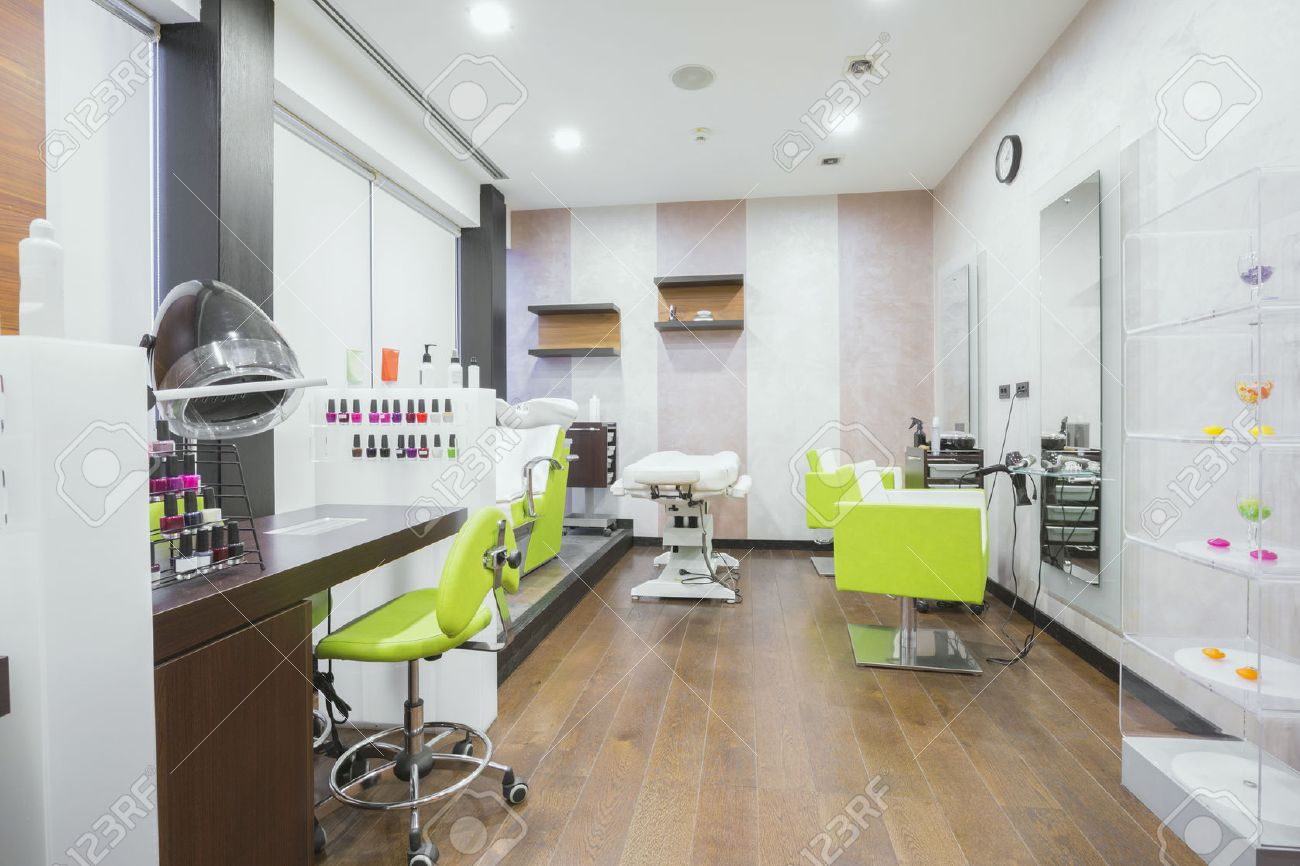 Modern Beauty Salon Interior Stock Photo, Picture And Royalty Free ...