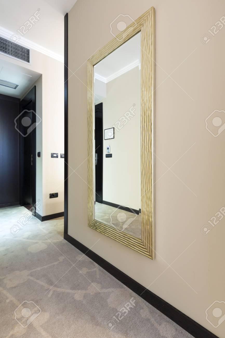 Grand Miroir D Entrée appartement salle d'entrée avec grand miroir