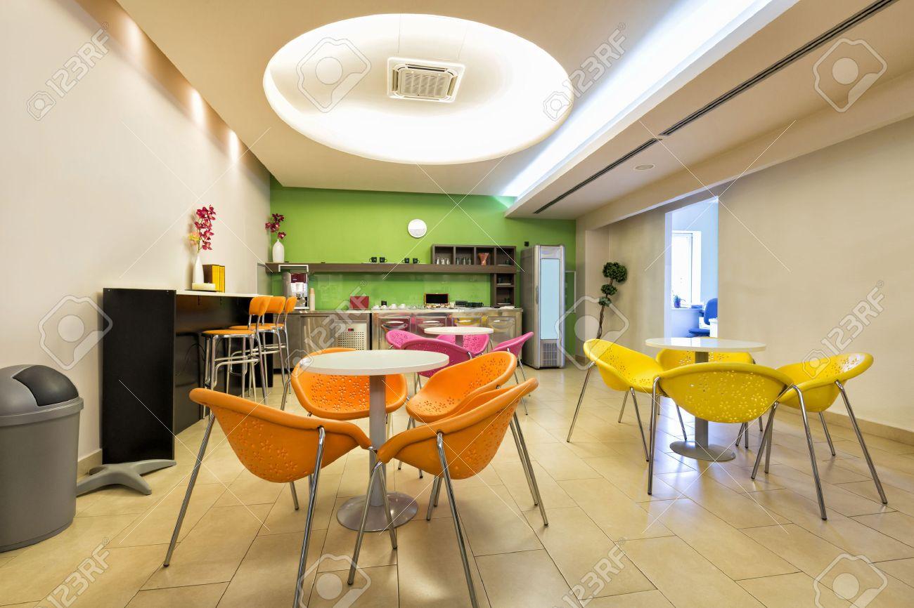 Small office canteen interior - 45876321