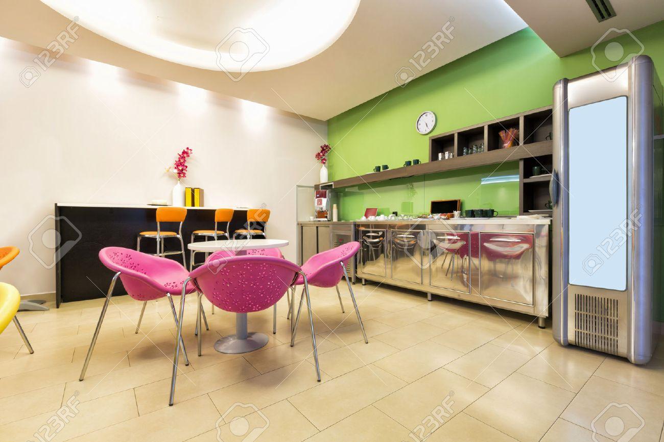 Small office canteen interior stock photo 46046414