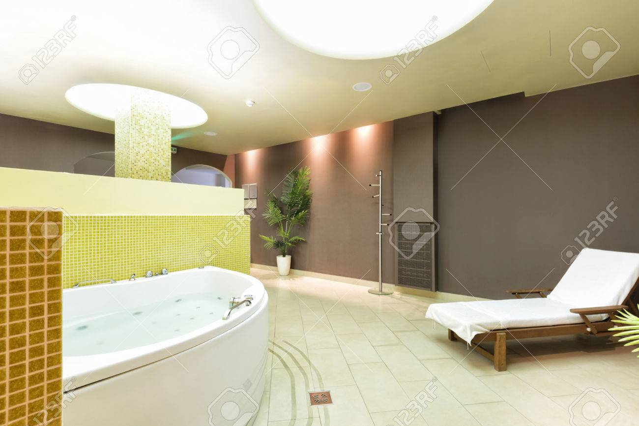 Spa Interior With Hydromassage Tub Stock Photo, Picture And Royalty ...