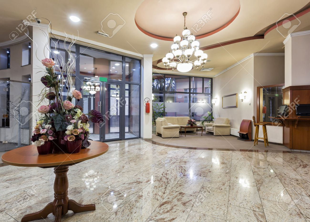 Modern Hotel Lobby modern hotel lobby stock photo, picture and royalty free image