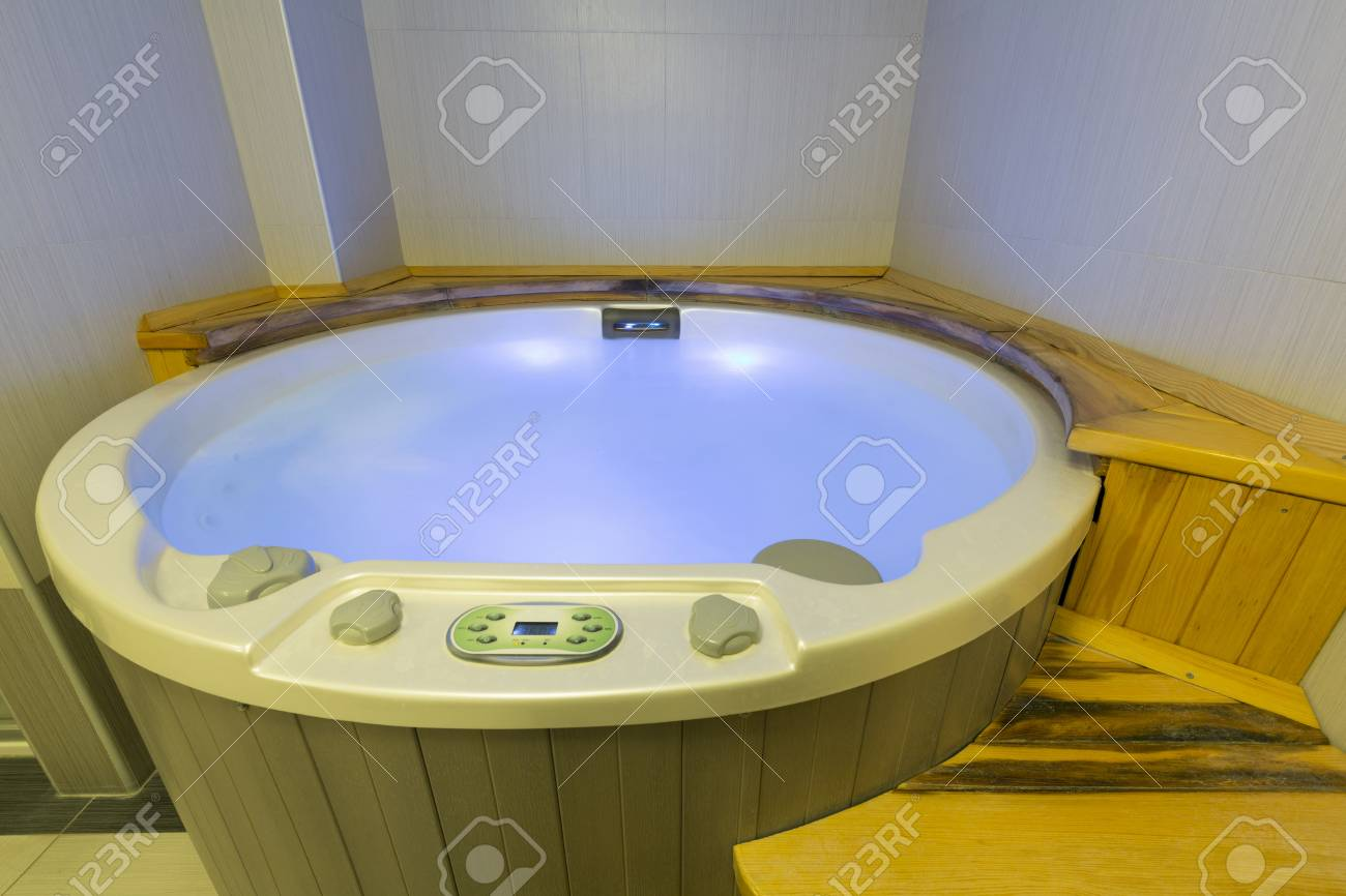 Jacuzzi Bath In Spa Wellness Center Stock Photo, Picture And Royalty ...