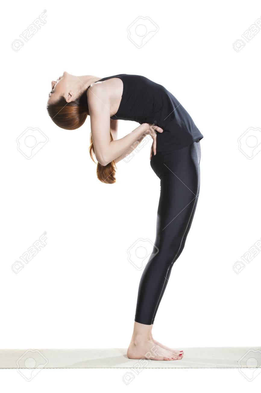 Yoga Standing Backbend Pose Anuvittasana Stock Photo Picture And Royalty Free Image Image 59703793