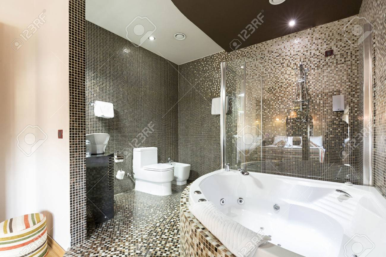 Modern Bathroom With Jacuzzi Tub Stock Photo Picture And Royalty Free Image Image 59852934
