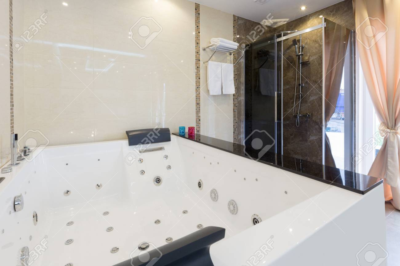 Hydro Massage Baths In Hotel Spa Center Stock Photo, Picture And ...
