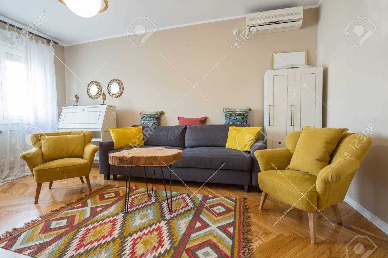 . Modern cozy living room interior