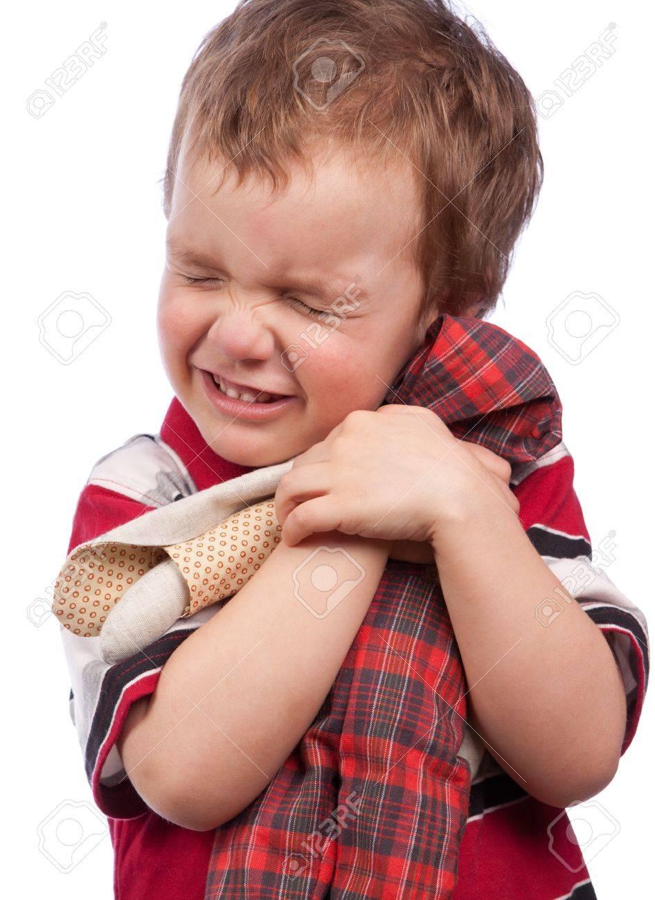 The little boy cuddle toy, isolation Stock Photo - 15036981