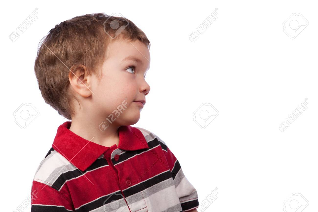 Portrait of a young boy, profile, isolation Stock Photo - 15036958