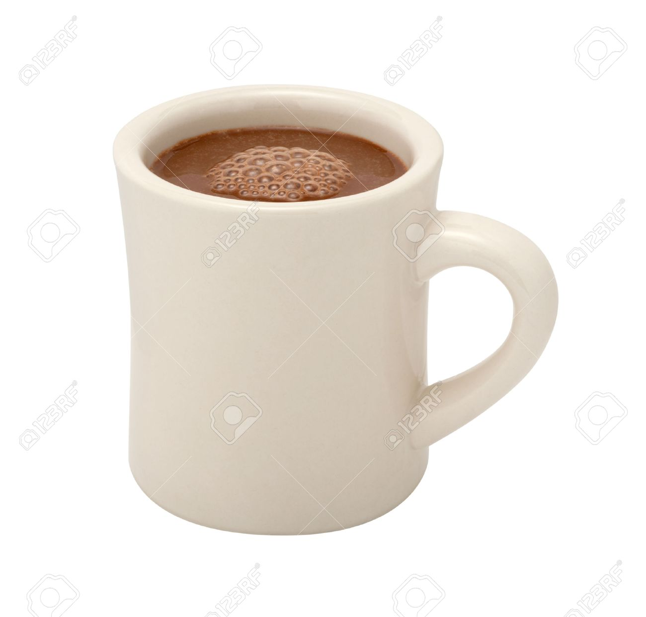 Hot Chocolate In A White Ceramic Mug The Image Is A Cut Out Stock Photo Picture And Royalty Free Image Image 49033581